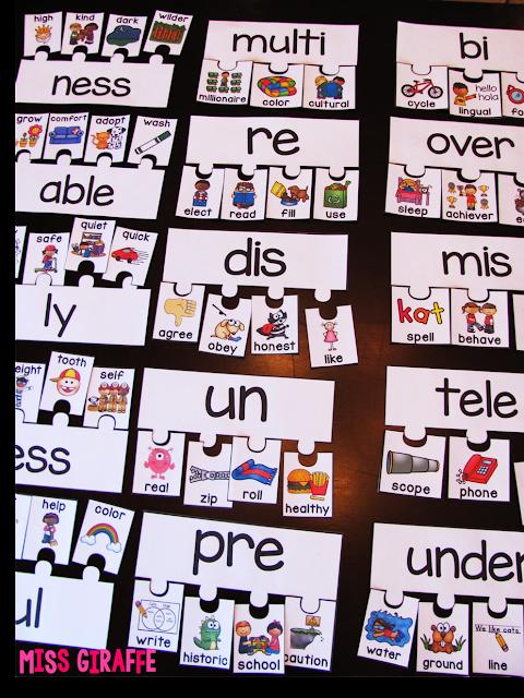 Miss Giraffe U0026 39 S Class  Prefixes And Suffixes Teaching Ideas