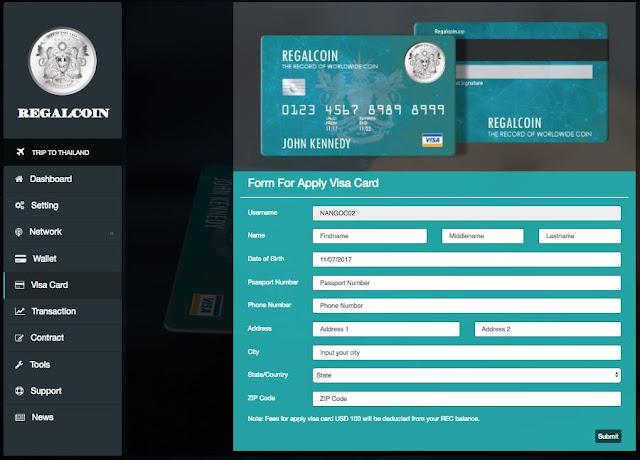 Dự án đầu tư Regalcoin Lending 45% tháng