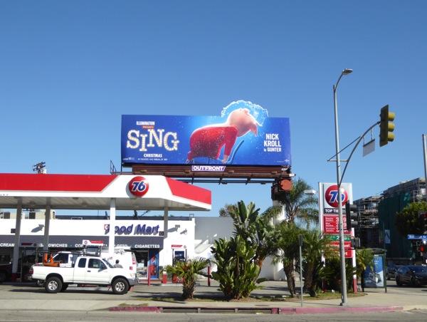 Sing Gunter Pig Flashdance parody billboard