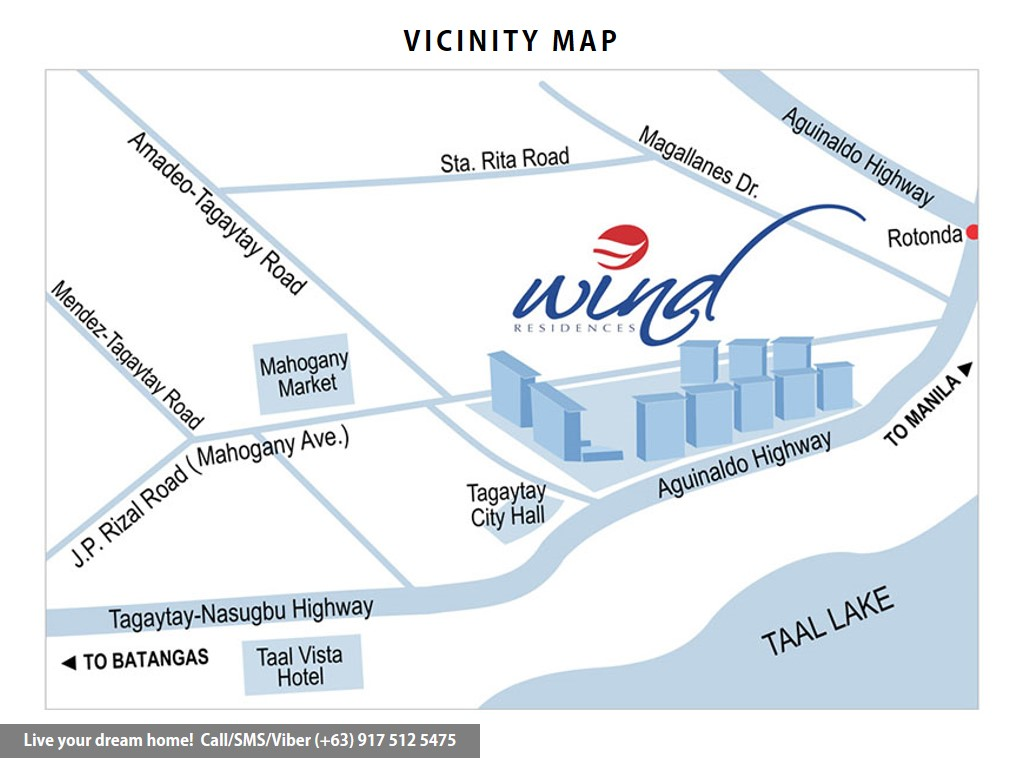 Vicinity Map - SMDC Wind Residences - Resort Residential End Unit 1 | Condominium for Sale Tagaytay Cavite