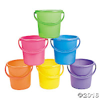 serve food in sand pails for beach party