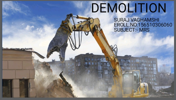 Free PPT ON DEMOLITION TECHNIQUES FOR STRUCTURES |2020|