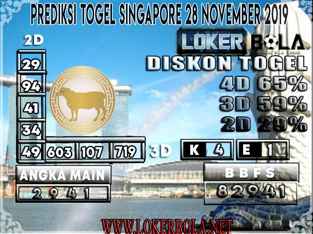 PREDIKSI TOGEL SINGAPORE LOKERBOLA 28 NOVEMBER 2019