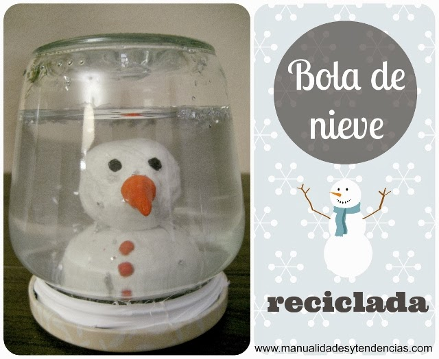 DIY Tutorial bola de nieve reciclada / recycled snowball/ boule de neige recyclé