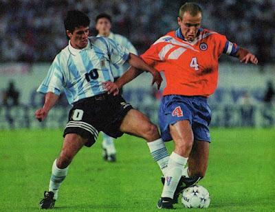 Argentina y Chile en Clasificatorias a Francia 1998, 15 de diciembre de 1996