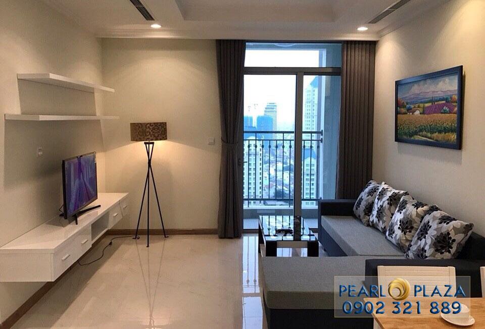 không gian phòng khách căn hộ pearl plaza