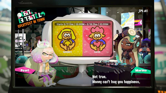 Splatoon 2 Splatfest Marina money can't buy you happiness