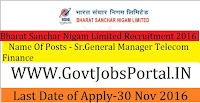 BSNL (Bharat Sanchar Nigam Limited) Recruitment 2016