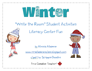http://www.teacherspayteachers.com/Product/Write-the-Room-Literacy-Center-Student-Activities-Winter-Theme-154031