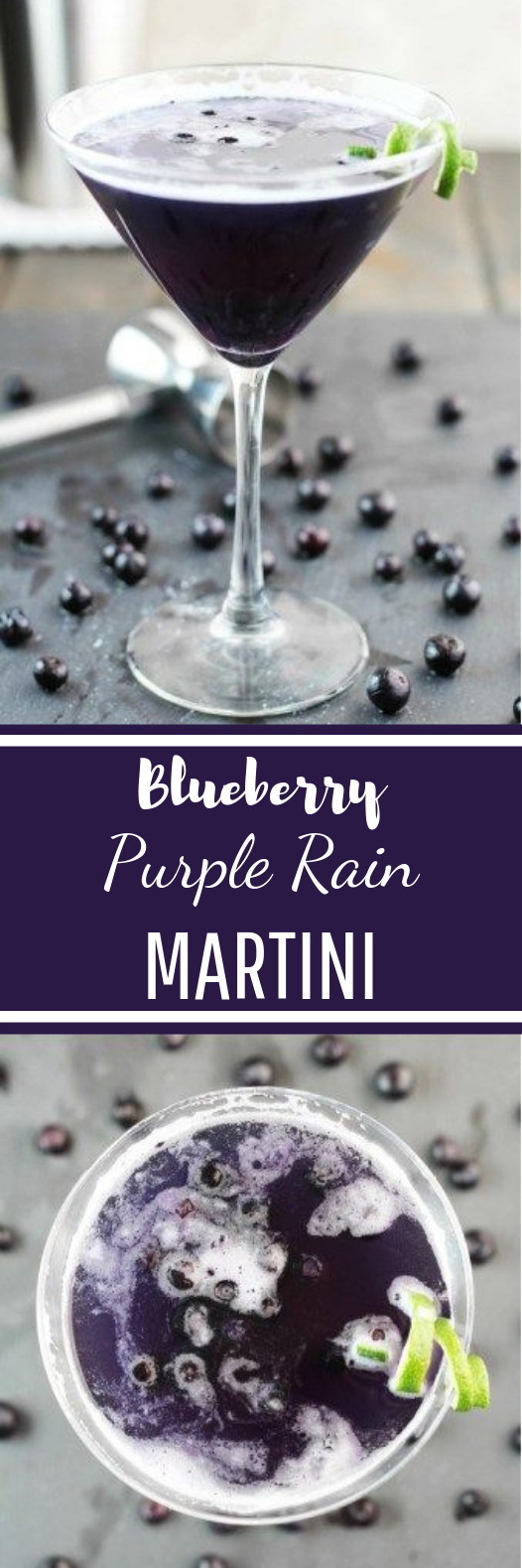 Blueberry Purple Rain Martini #fruit #cocktails