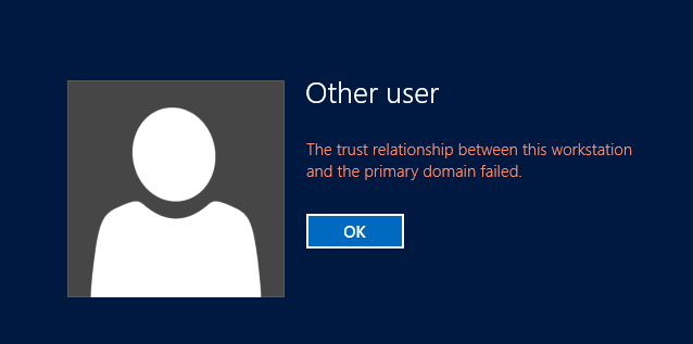 network trust relationship error