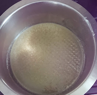 coconut oil melting in a pot