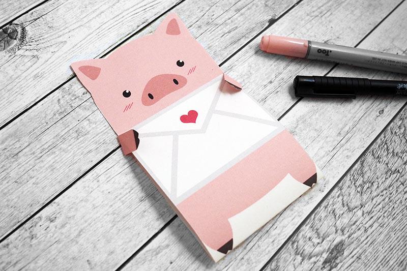 KuneCoco • Freebie • Schweine-Liebesbrief