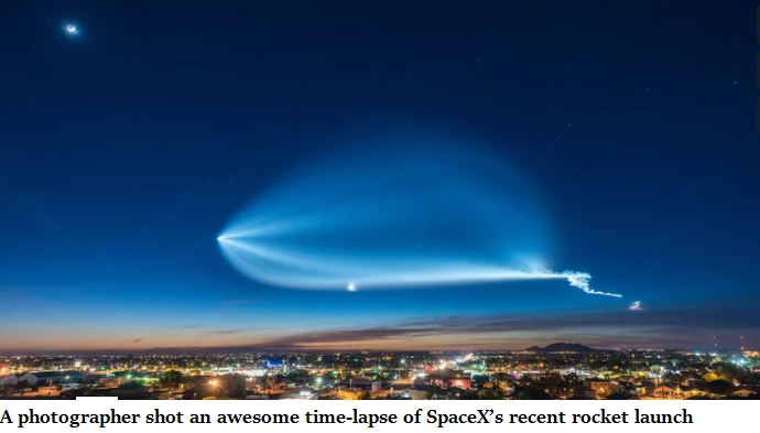 A photographer shot an awesome time-lapse of SpaceX's recent rocket launch