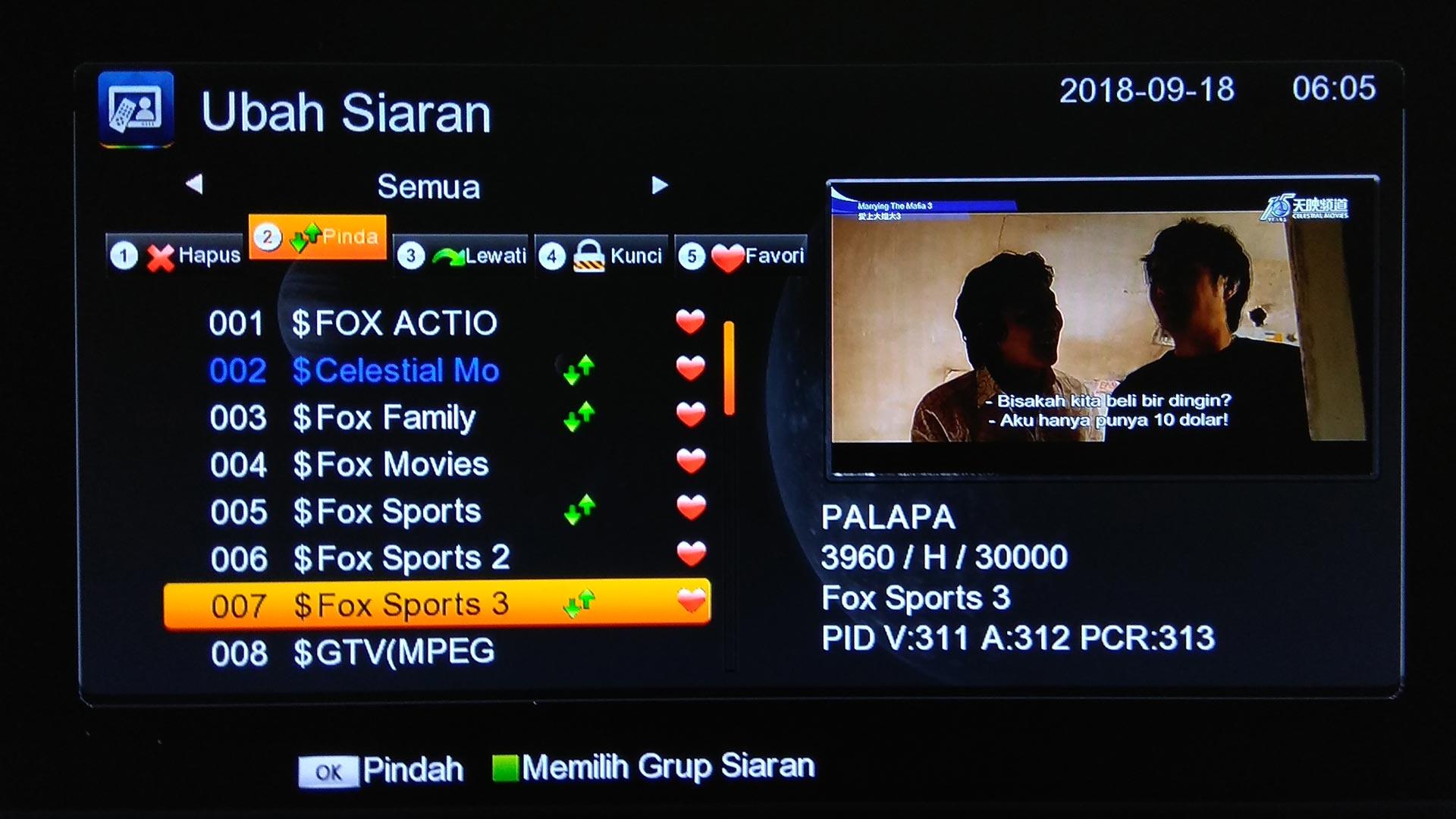 cara mengurutkan chanel tv parabola tanaka Topas TV Terbaru