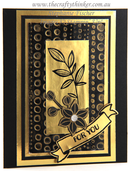#thecraftythinker  #stampinup #cardmaking #blackandgoldcards #embossingtechniques #dottodotembossingfolder , Black & Gold card sets, Embossing Techniques, Metallic cards, Dot To Dot embossing folder, Stampin' Up Australia Demonstrator, Stephanie Fischer, Sydney NSW