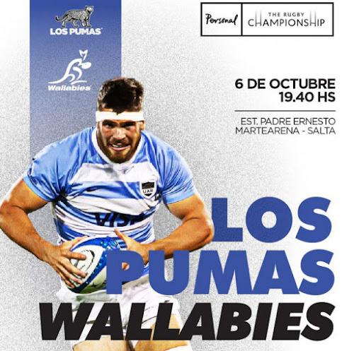 Programa oficial de Los Pumas vs. Wallabies en Salta
