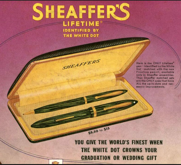 sheaffer white dot fountain pen