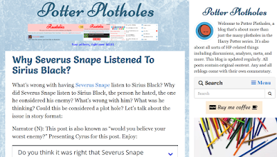 Potter Archives, Potter Plotholes, Harry Potter, J.K. Rowling, book series
