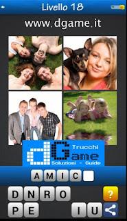 PACCHETTO 2 livello 18 - Soluzioni Trova la Parola - Foto Quiz con Immagini e Parole