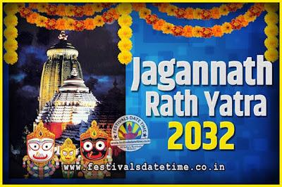 2032 Jagannath Rath Yatra Pooja Date and Time, 2032 Puri Ratha Yatra Calendar