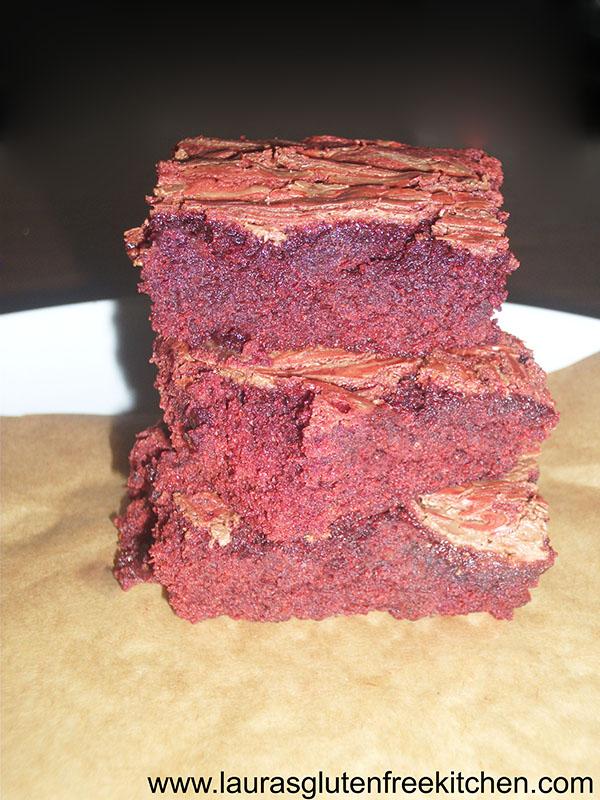gluten free red velvet brownies