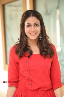 Actress Lavanya Tripathi Latest Pos in Red Dress at Radha Movie Success Meet .COM 0131.JPG