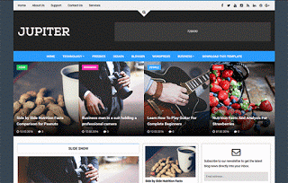 Jupiter шаблон для blogger 2016