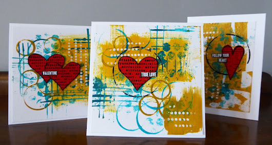 Abstract Valentine's Cards for DecoArt Media