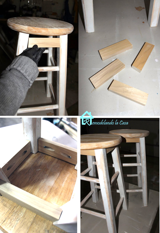 How to install a wooden skirt to plain stools.