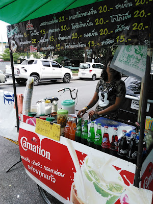Local mocktail Drink Sellers in Bangkok, Thailand