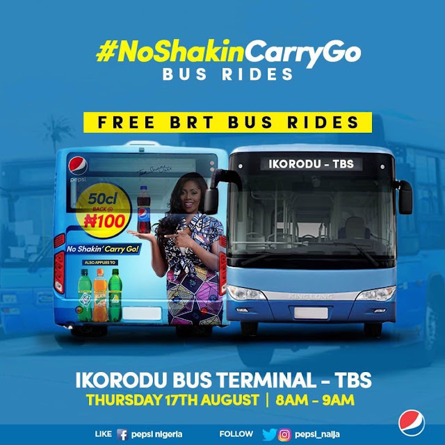 Pepsi gives a free BRT ride and free drinks to passengers