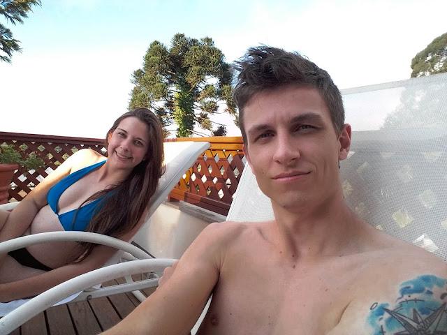 Selfie do casal