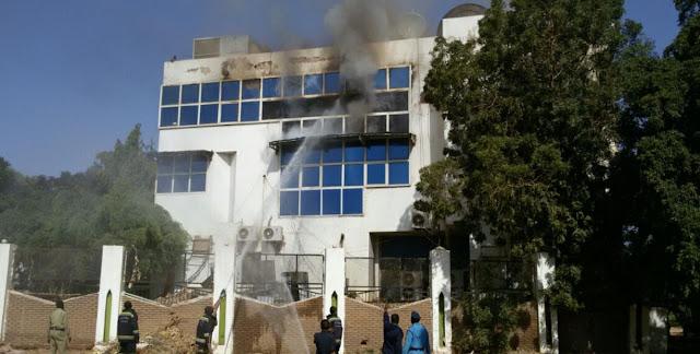حريق في قناة النيل الازرق