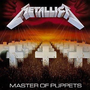 Carátula del LP de Metallica: Master of Puppets - Elektra Records - Fuente: Wikimedia