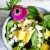 Food: Fresh Spinach with Mango & Feta