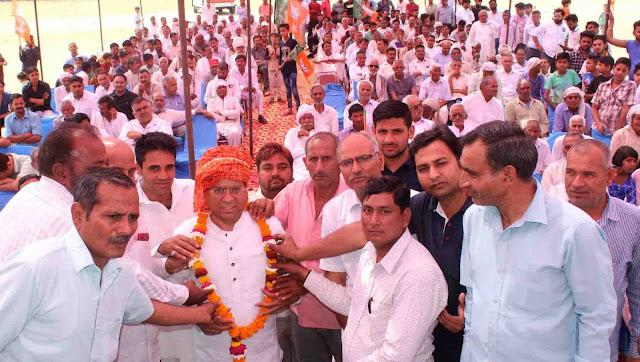 BJP leader Rajesh Nagar visits village in Bahadurpur