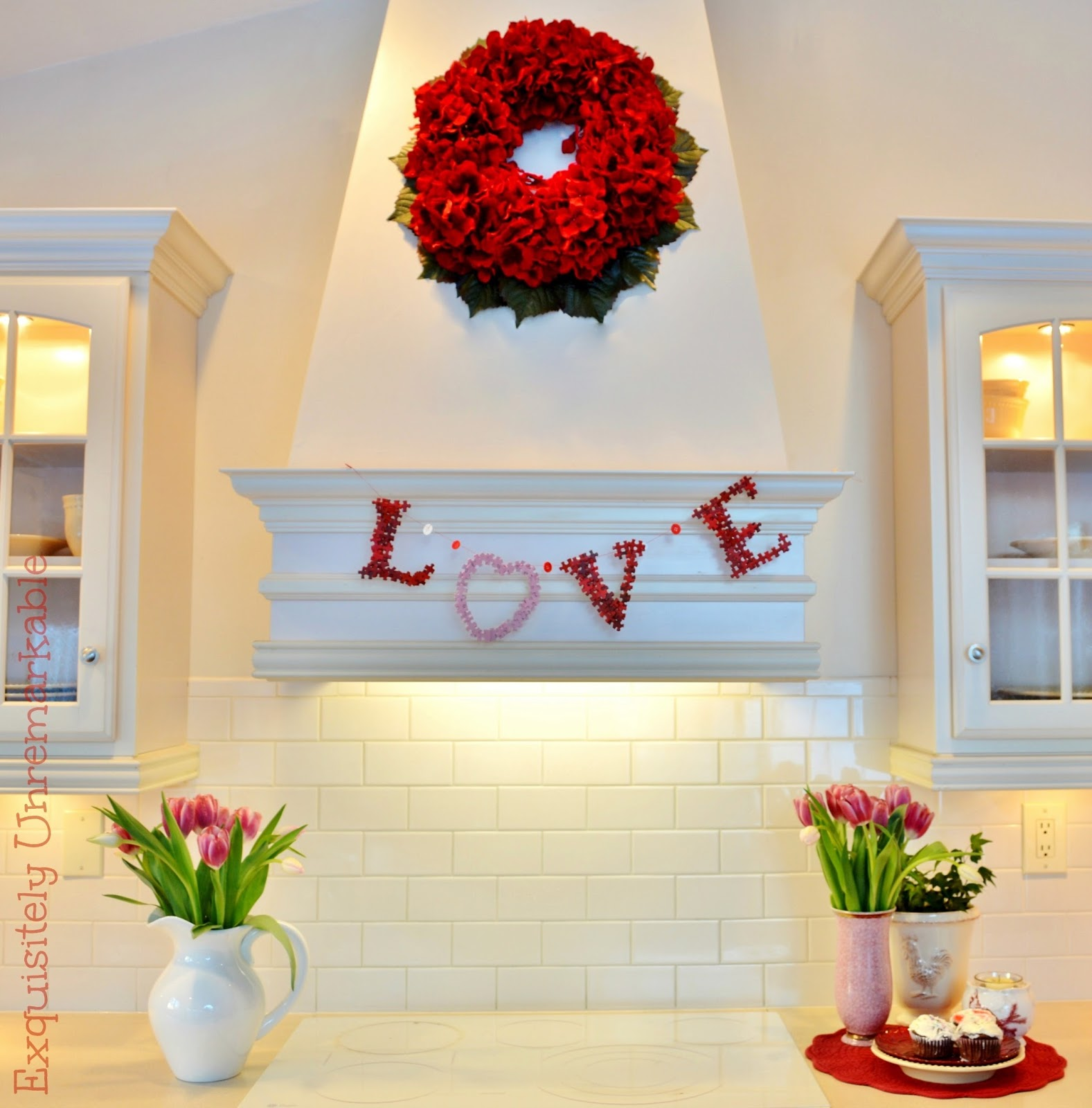 Puzzle Piece Love Garland For Valentine S Day Or Weddings
