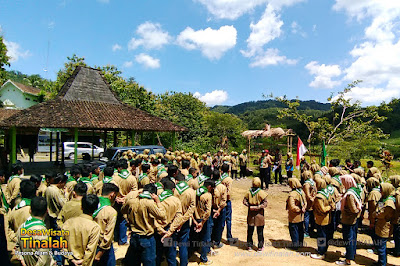 Camping SMK  Muhammadiyah 2 Yogyakarta di Desa Wisata Tinalah