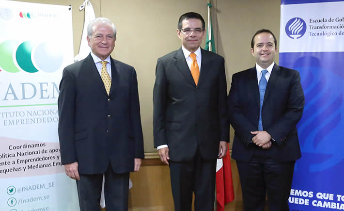 El Inadem, el Tec de Monterrey y Femsa firmaron un convenio para actualizar estudio que apoyará el impulso a sectores estratégicos del país. (Foto: Secretaría de Economía)