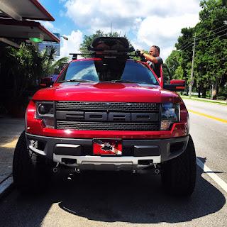 Car Racks Blog: Tule Paddleboard Car Rack on a Ford Raptor ...