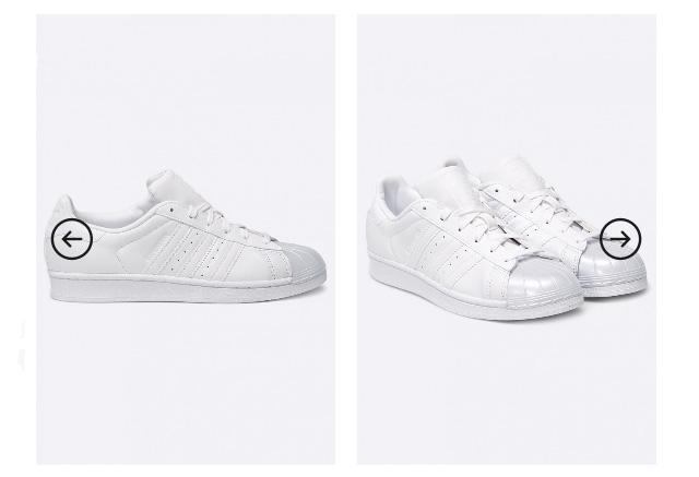 Adidasi dama originali adidas Originals - Superstar Glossy albi