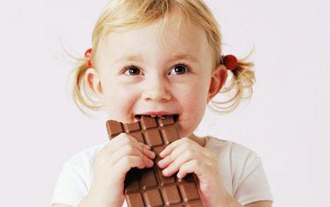 Child Tasting A Chocolate Cake