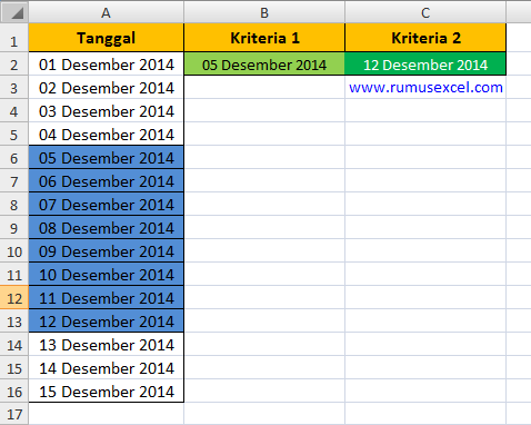 Conditional Formatting Excel dua kriteria