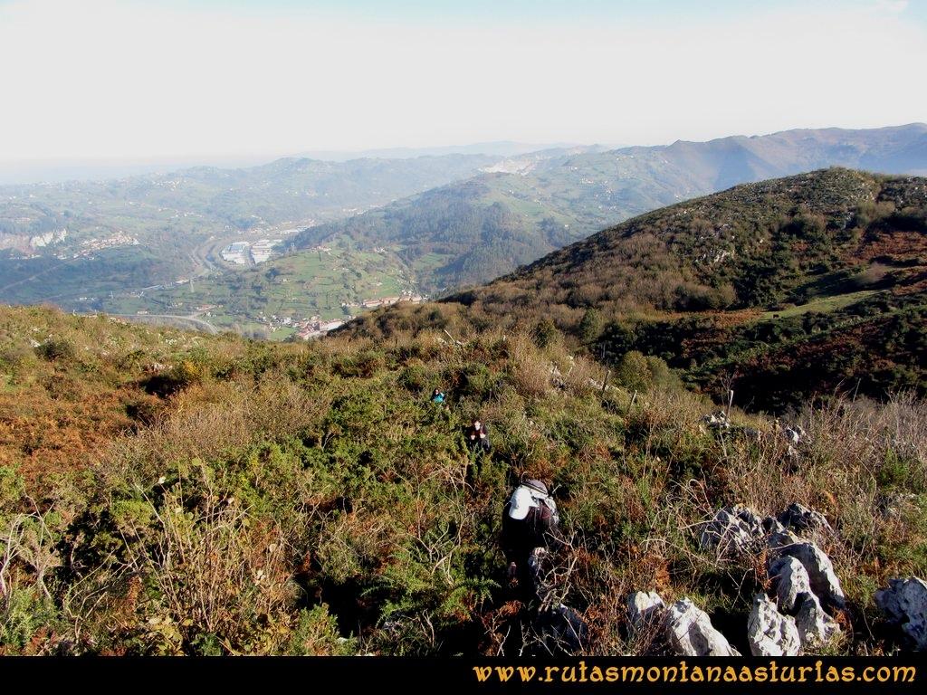 Ruta Baiña, Magarrón, Bustiello, Castiello. Camino al Pico Magarrón