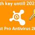 Avast 100% working key licence