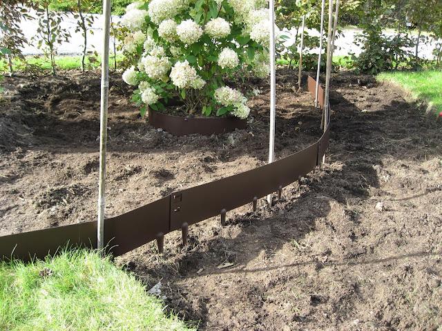 Tips til bruk av bedkanter på uteplassen rundt furua - tillagingen av bedkantene. Furulunden