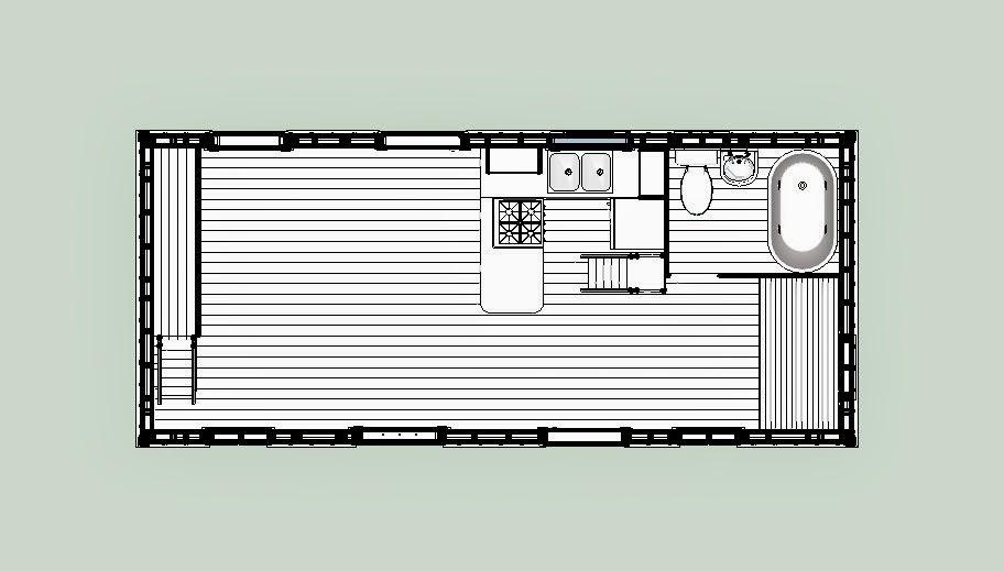Sweatsville 12 x 28 Tiny Texas House – Tiny Texas Houses Floor Plans