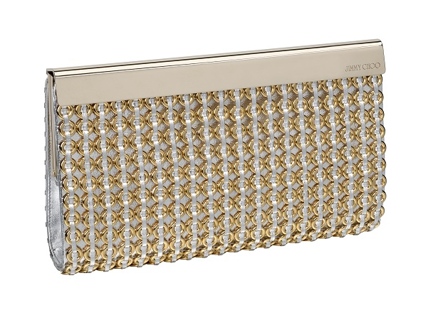 39613724f0d For evening glamour, choose Chandra gold metallic leather clutch bag with  chain detail. Alternatively, the streamlined cylinder clutch bag, Cosma, ...