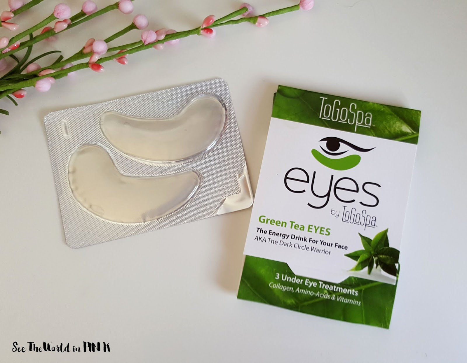 Mask Wednesday - ToGoSpa Green Tea Eyes Review